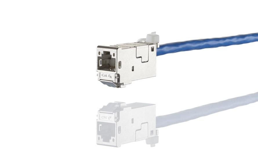 کیستون شبکه Cat6A -متزکانکت E-DAT